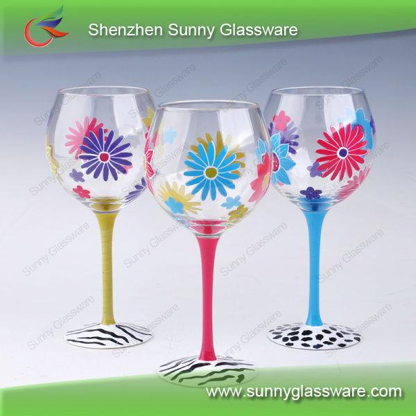 hot sale hand painted wine glasses - Wine Glass Design Ideas