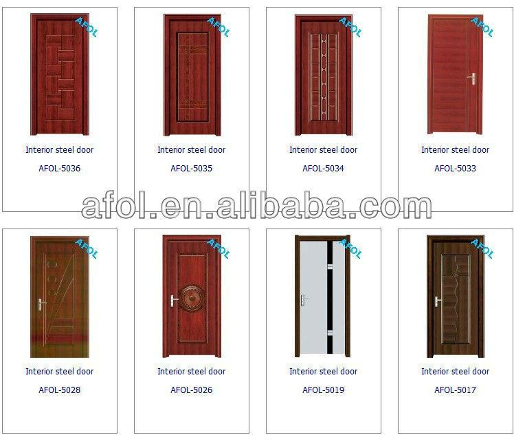Zhejiang latest design hight quality galvanized interior for Puertas metalicas modelos