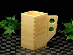 "Ohashiryoki Masu (a square wooden box) ""Morning glory (ASAGAO)"" (01027)"