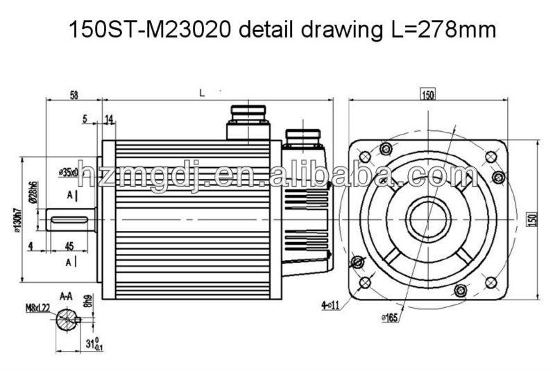 150mm 4 7kw permanent magnet ac servo motor  view 240v servo motor  mige product details from