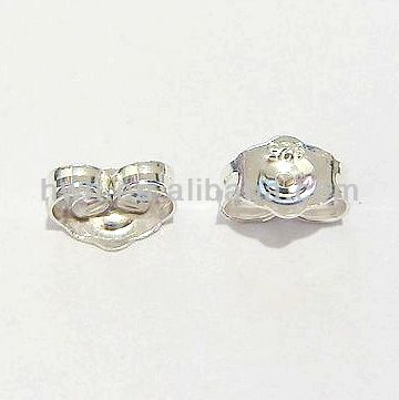 H165 EARRING BACK SOLID SILVER 925