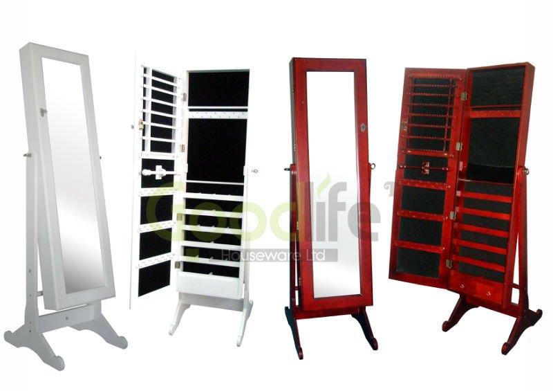 Wooden cette armoire bijoux miroir buy cette armoire bijoux miroir mirrored - Psyche armoire a bijoux ...