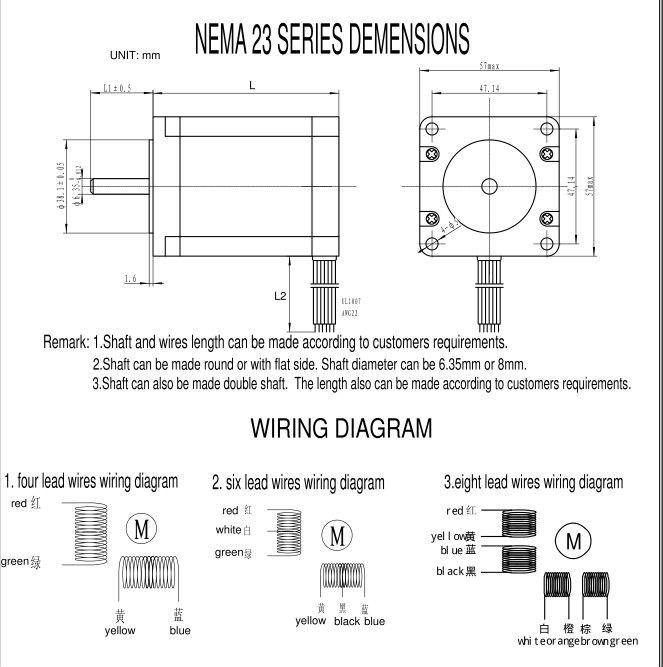 nema 23 dual shaft stepper motor 425 oz in  view nema23