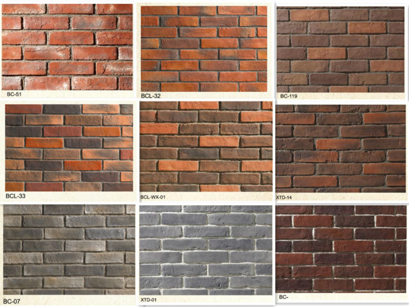 Faux Stone Wall Brick Tile Artficial Brick Exterior Wall Panel Ceramic Tile Artificial