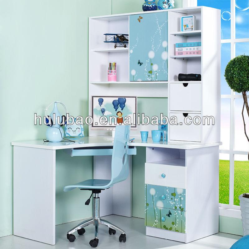 901 Children Kids Modern Study Desk With Cabinet Shelf