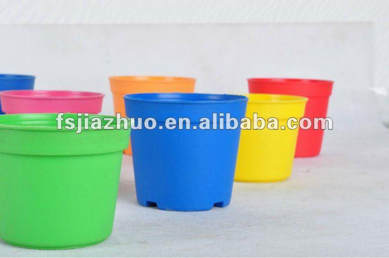 Billiges plastik blument pfe farbige t pfe mini kunststoff for Billige gartendekoration