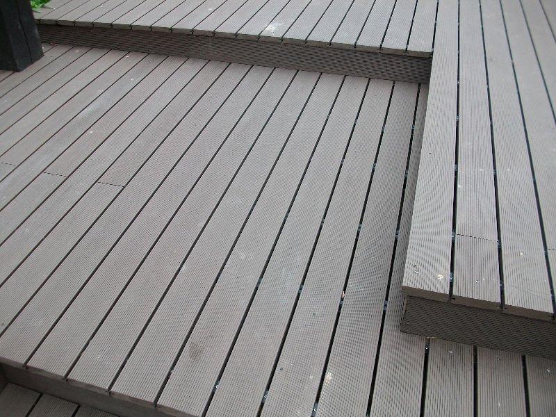 Plastic Wood Deck Floor Solid Wpc Flooring Decking