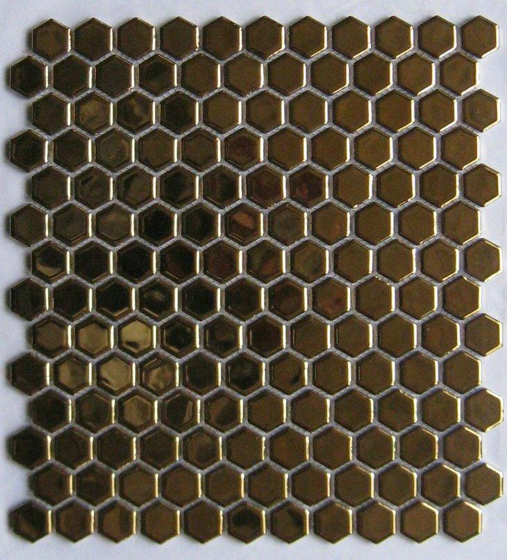 Hexagon Black And White Ceramic Mosaic Tile Buy Black And White Ceramic Mos