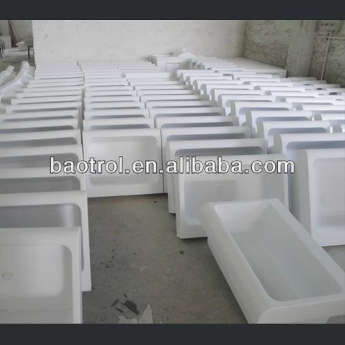Solid surface stone bathroom basin acrylic wash sink free - Fregaderos de piedra antiguos ...