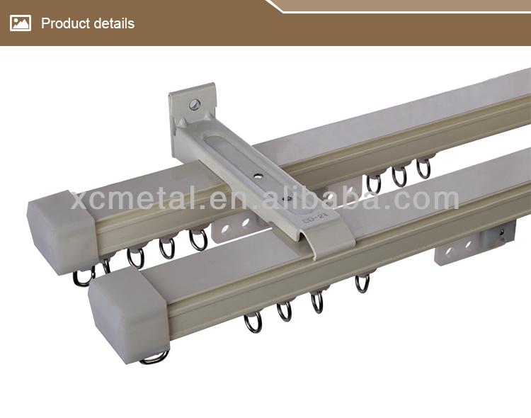 Japanese Aluminium Ceiling Mount Curtain Track Double