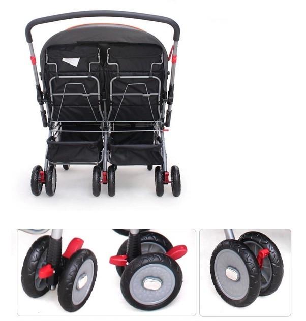 3 in 1 motorized baby stroller big wheel twins stroller Motorized baby stroller