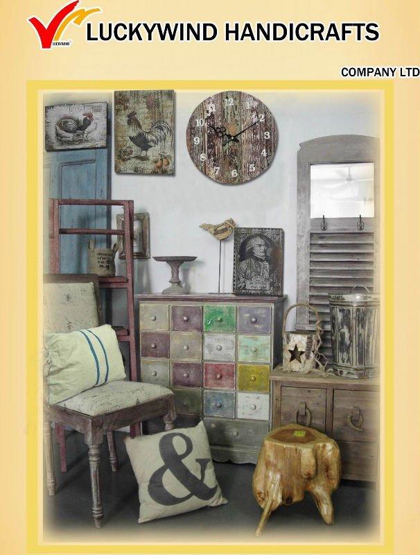 Chinese Handmade Antique Metal Shabby Chic Home Decor