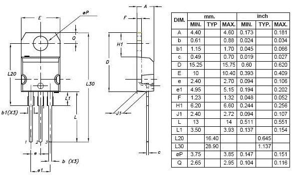 tip32a pnp power silicon transistor
