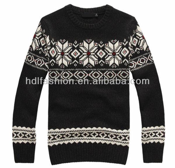 Christmas Sweater Jacquard Knitting Pattern Designs For Men - Buy Christmas S...