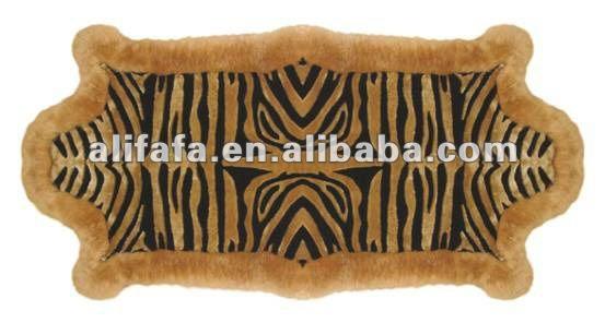 Tiger Design Sheepskin Carpet Buy Sheepskin Carpet