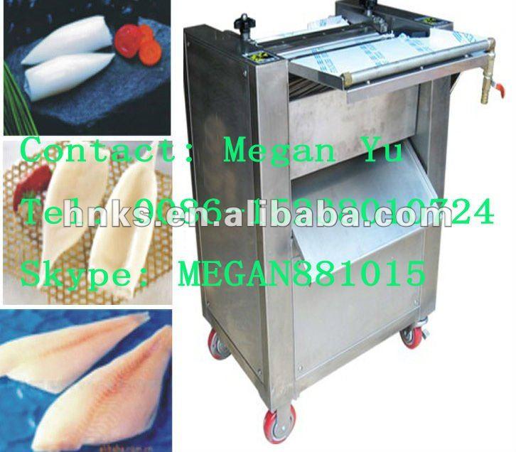 Stainless steel fish skinner machine frozen fish cutting for Fish skinner machine