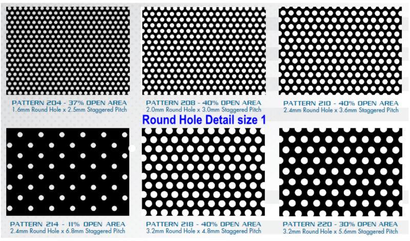 Round Aluminium Panel : Tuv rheinland standard round hole perforated screen buy