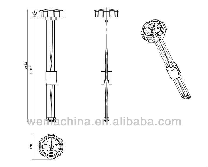 Electronic Fuel Tank Gauges : Diesel fuel tank level gauge mechanical