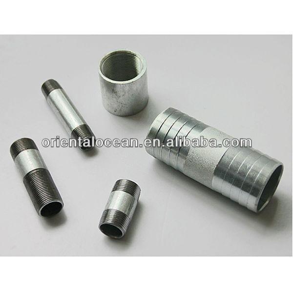 Npt bspt thread galvanized steel hose nipples pipe