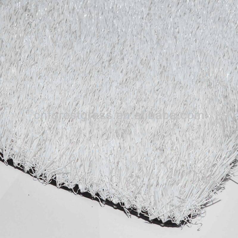 Snow White Artificial Grass Flooring White Artificial Lawn