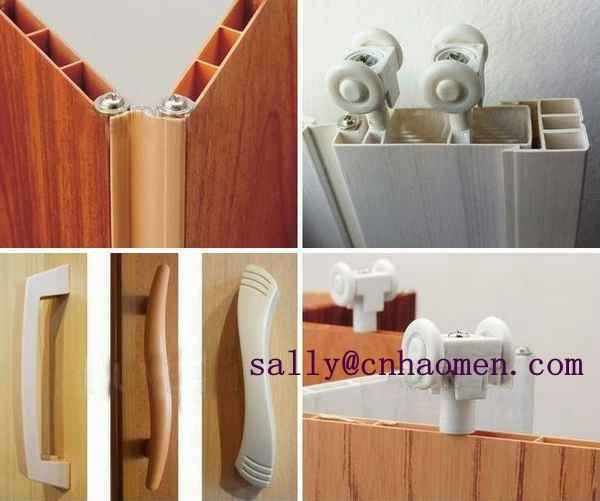 New Design Walnut Pvc Accordion Doors Folding Door