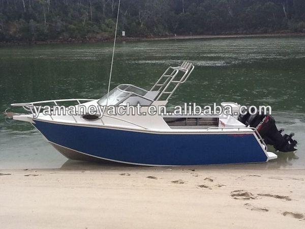 580 aluminum fishing boat with cabin australia new zealand for Aluminum boat with cabin for sale