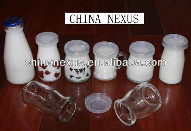 Glass Milk Bottle Mimi New Design Glass Milk Pudding