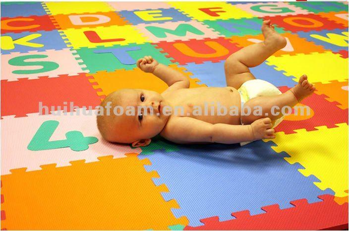 7 27 Square 72pcs Educational Alphabet Puzzle Mat Eva Foam
