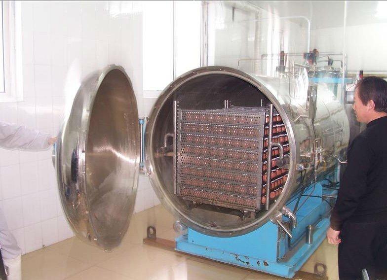 pressure vessel   autoclave with pneumatic door  manual door