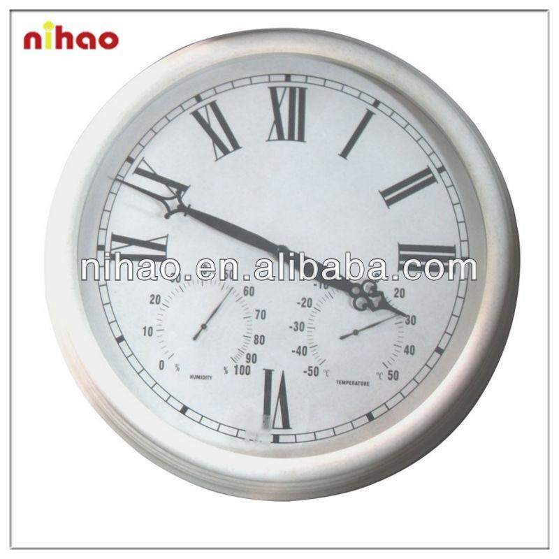 15 wall clock temperature humidity clock view 15 clock