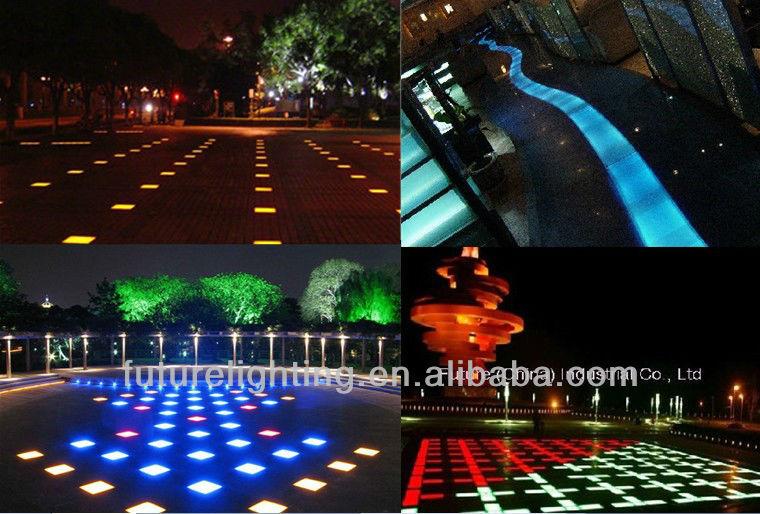 Wholesale Blue floor tiles low voltage landscape led brick light ...