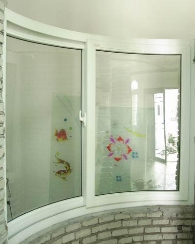 Pvc curved double glazed glass windows buy double glazed for Pvc double glazing