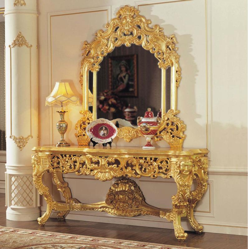 Luxury Wholesale Classic Furniture Gold Leaf Gilding