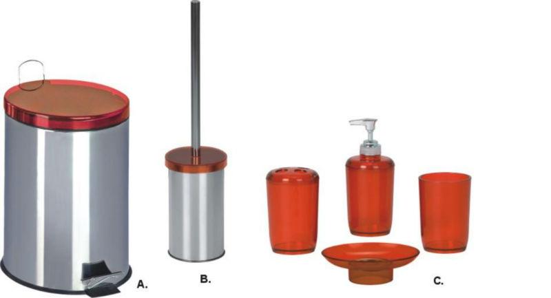 Bathroom Accessories Full Set : Full set toilet brush pcs bathroom accessory
