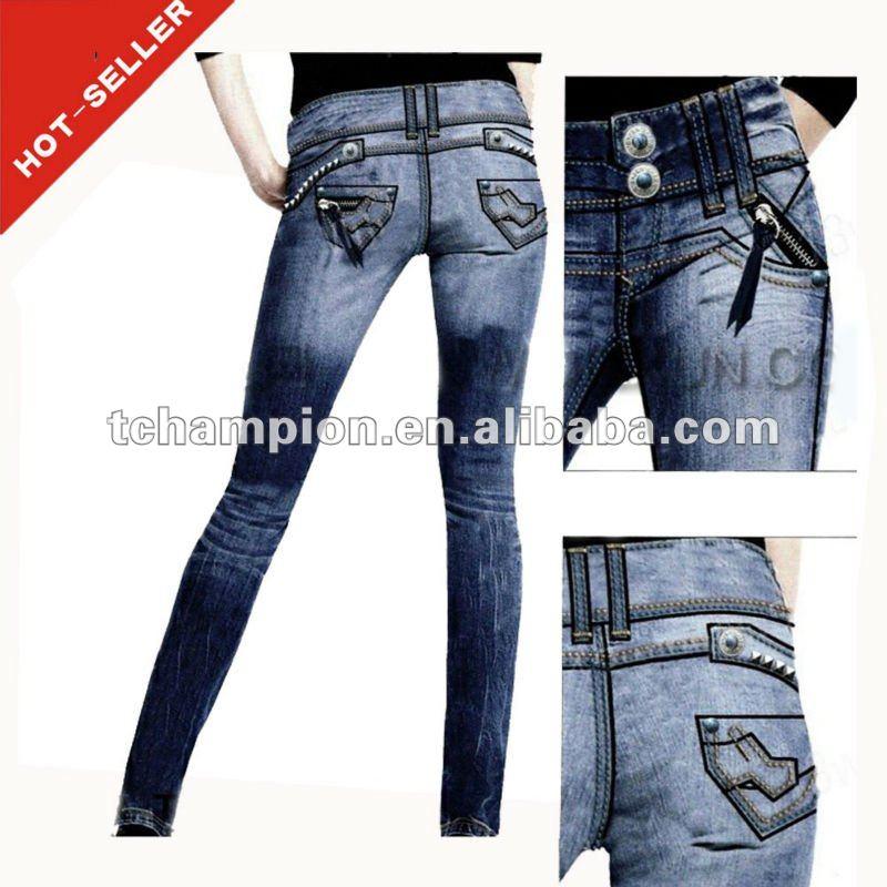 TG351W ) 2013 french jeans brands plus size skinny women jeans xxl