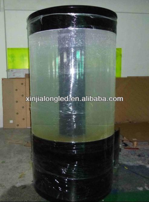 Cylindrical acrylic aquarium round acrylic aquarium for Aquarium rond