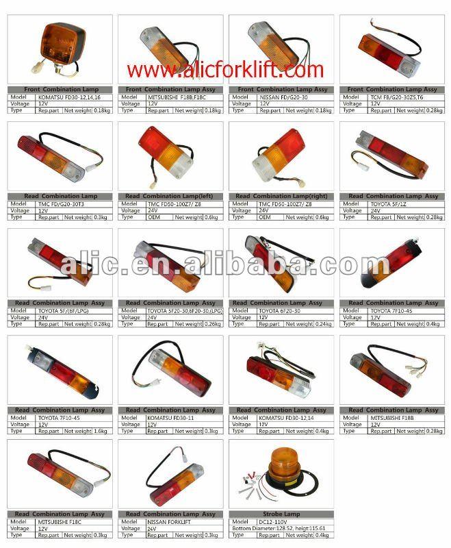 Komatsu Forklift Front Signal Lamp - Buy Komatsu Forklift Lamp,Komatsu Forklift Spare Parts ...