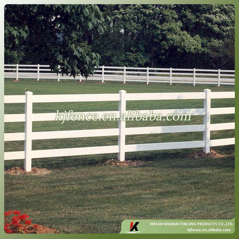 Black color pvc horse fence buy