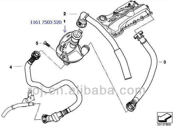 engine oil breather valve pcv oil separator for bmw e87