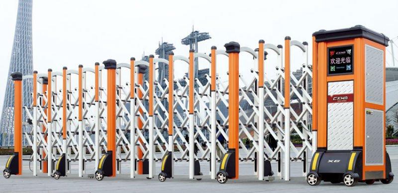 Industrial Retractable Gates : Industrial retractable gate design for main entrance