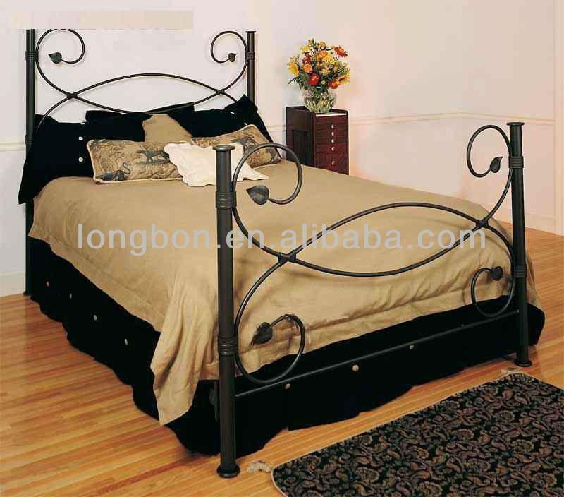 modern tempat tidur besi cor bingkai