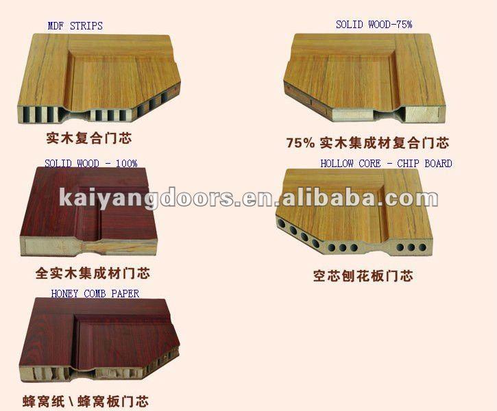 Interior Solid Entry Wooden Door With Solid Wood Design