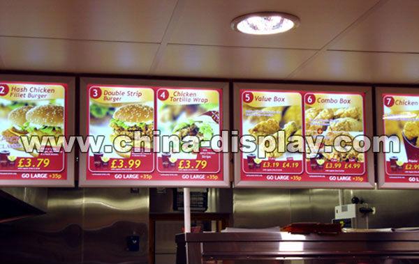 led menu board menu light box restaurant light box signs buy led