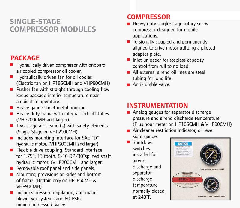 ingersoll rand 185 cfm air compressor service manual