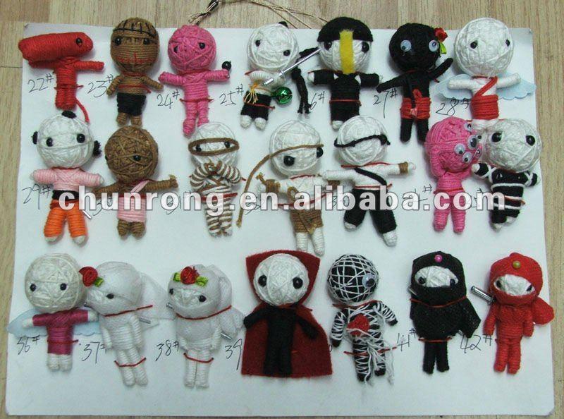 Wooden Man Handmade Fabric String Voodoo Dolls Doll Toys