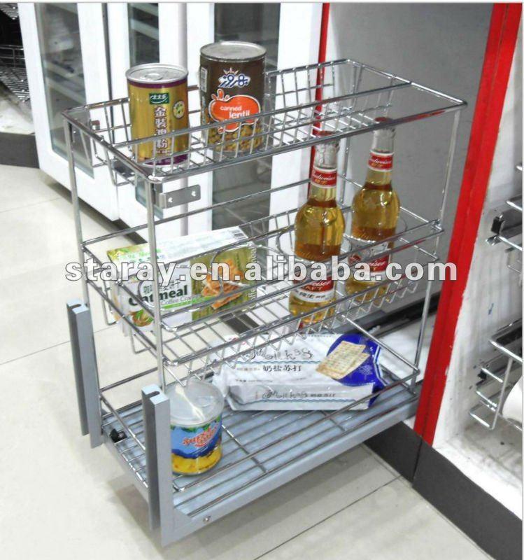 Hpjd719b Soft Closing Pull Out Drawer Basket Buy Drawer Basket Kitchen Hard