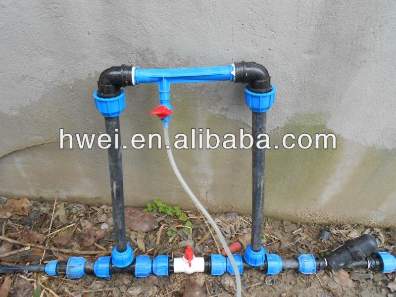 High quality venturi fertilizer injector view