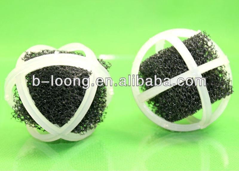 Aquarium fish tank filter plastic bio balls with sponge for Pond bio balls cleaning