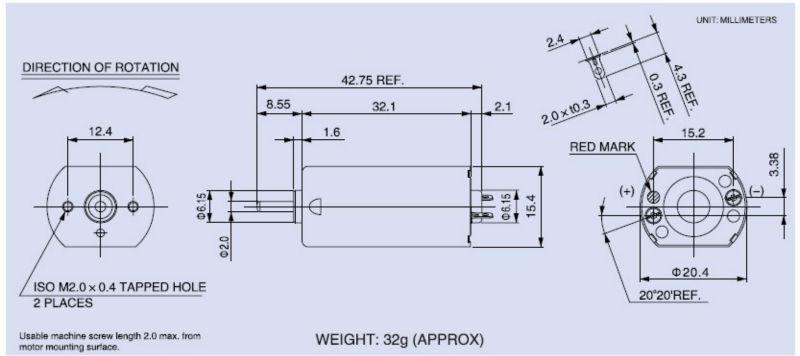 Mini Brush 12v Dc Electric Motor Pmdc Motor 12 Volt Motor