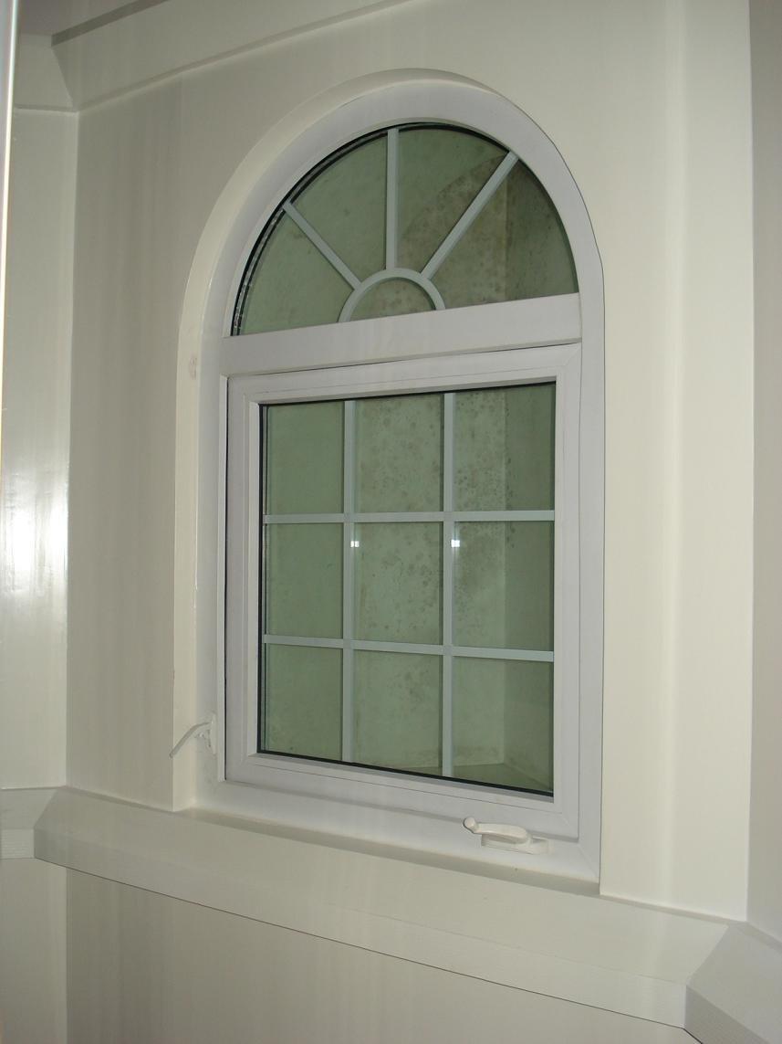 Fixed Arch Windows : Arch window with grid aluminum top windows foshan